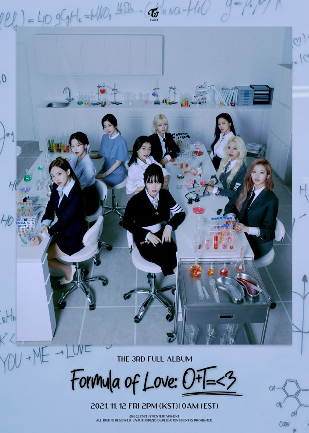 TWICE announce third studio albumFormula of Love: O+T=
